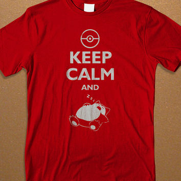 Pokemon T-shirt. Snorlax Keep Calm and Sleep Zzzz  Men's T-shirt, Awesome Shirt