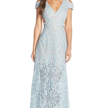 Women's BCBGMAXAZRIA 'Ava' Cotton Blend Gown,