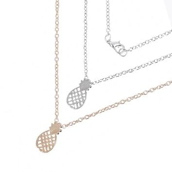 Standing Tall Pineapple Necklace