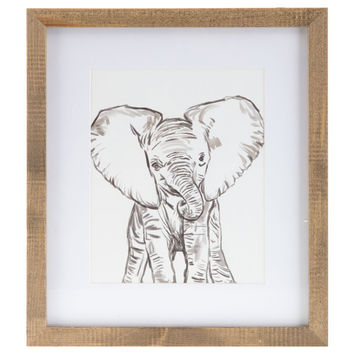 Baby Elephant Framed Wall Decor | Hobby Lobby | 1298207