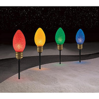 Christmas Outdoor Yard Lighted Pathway Lighting Decorations,Large Light Bulbs