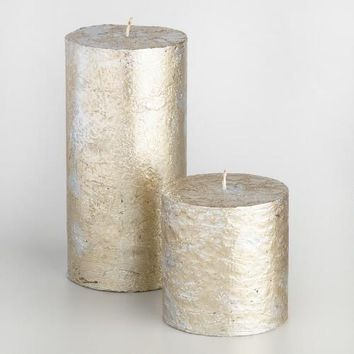 Silver Mercury Pillar Candle