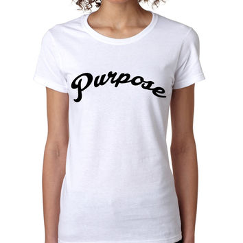 Justin Purpose Shirt Justin Bieber women t-shirt