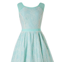 Lace Mint Vintage Coctail Summer Dress