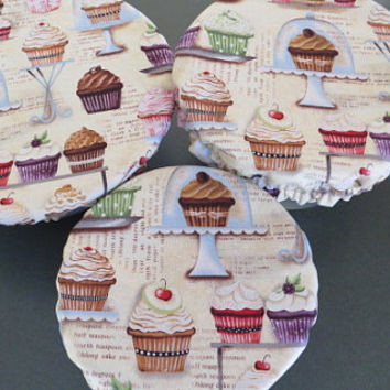 Reusable Bowl Covers, Elastic Bowl Lids, Eco Friendly Lids, Cupcake Bowl Covers