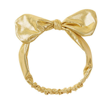 Gold metallic knot headband, gold knot headband, knot headband, baby headband, newborn headband, turban headband, girls head wraps, gold