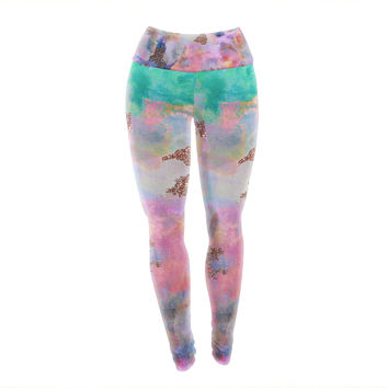 "Nikki Strange ""Sparkle Mist"" Yoga Leggings"