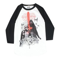 Star Wars Kylo Ren And The Stormtroopers Men's White Baseball Tee