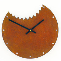 Shark Bite Wall Clock (Rusted)