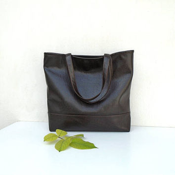 CHESTNUT tote, brown leather bag, rustic leather bag, casual tote, everyday tote, brown handbag, shoping bag, messenger bag, shopper bag