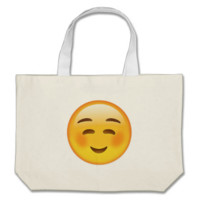 White Smiling Face Emoji Tote Bag