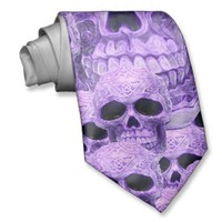 Celtic purple skull collage necktie from Zazzle.com