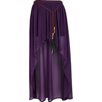 purple raised front maxi skirt - maxi skirts - skirts - women - River Island
