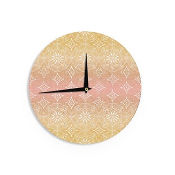 "Suzie Tremel ""Medallion Blush Ombre"" Pink Wall Clock"