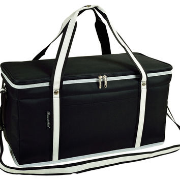 Folding 72-Can Cooler, Black, Trunk Organizers