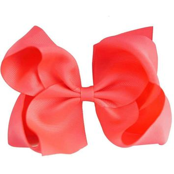 Grosgrain Boutique Hairbow, Coral