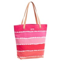 Seaside Splash Beach Tote, Warm Tie-Dye Stripe