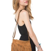 Brandy ♥ Melville |  Brown Single Fringe Purse - Accessories