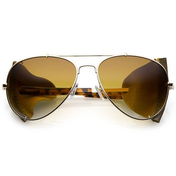 Vintage Steampunk Side Cover Aviator Sunglasses A631