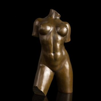 Best selling  Famous sculpture Statuette sexy Woman Body tronc  bronze busts statue vintage home office decor Busto scultura
