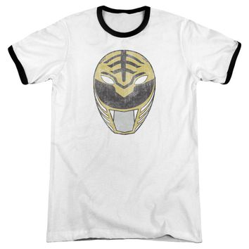 Power Rangers - White Ranger Mask Adult Ringer