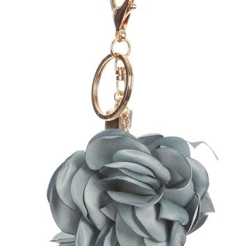 Flower Leather Strap Key Chain