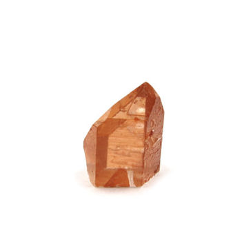 Tangerine Quartz Point Flat Bottom Generator 1 Raw Crystal 12mm x 10mm x 15mm Natural Orange Stone For Jewelry - Record Keeper (Lot 6919)