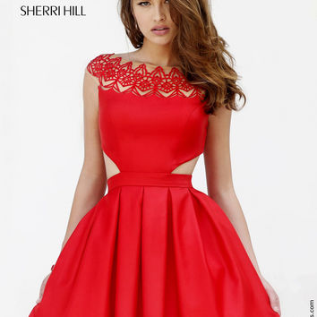 Sherri Hill 9756 Sexy Cut Out Cocktail Dress