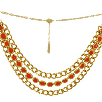 Karine Sultan Triple Row Enamel Chain