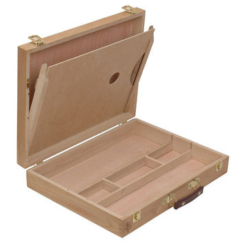 Retro Portable Beech Wooden Paint/Sketch Drawing Box for Artists