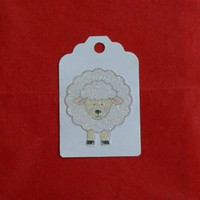 Easter Lamb / Easter Tags / Recycled / Up Cycled / Set of 3