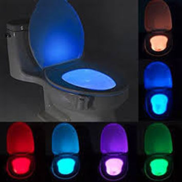 Toilet Night Light ,Motion Activated Toilet Night Light Toilet Nightlight, Great for Potty Training,