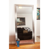 Modern Silver Floor Mirror | Overstock.com Shopping - The Best Deals on Bedroom Mirrors