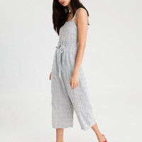 AE Easy Striped Jumpsuit, Black