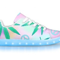 Peace & Weed - APP Controlled Low Top LED Shoes
