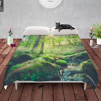 Down the dark ravine 2 Duvet cover