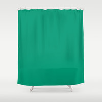 Green with Envy Shower Curtain by spaceandlines