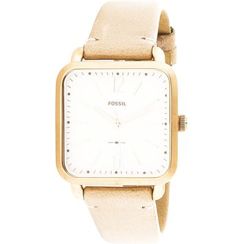 Fossil Women's Micah ES4254 Rose-Gold Leather Japanese Quartz Fashion Watch