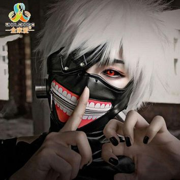 DKF4S High Quality Clearance Tokyo Ghoul 2 Kaneki Ken Mask Adjustable Zipper Masks PU Leather Cool Mask Blinder Anime Cosplay