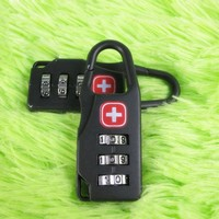 Alloy Safe Swiss Cross Symbol Combination Code Number Lock Padlock for Luggage