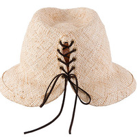 Fedora Hat with Lacing At The Back, Demian hat