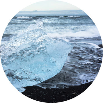 Icelandic Beach Circle Wall Decal
