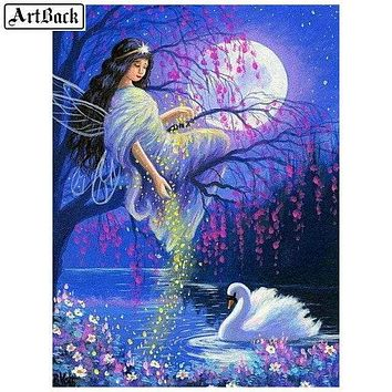 5D Diamond Painting Swan Fairy Kit
