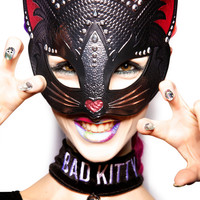 Kitty Perry Sparkle Mask BLACK One