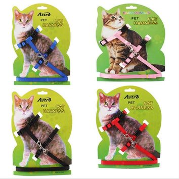 New polyester Pet Cat Dog Cat Harness Puppy Harness With Leash Belt Traction Rope  Cat Chest Strap Leash