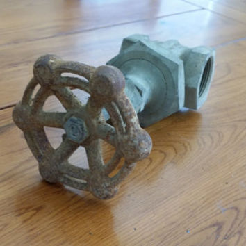Vintage Industrial Steampunk Powell Valve Decor Piece Door Stop Book End Altered Art Supply