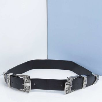 Erin Double Buckle Western Belt