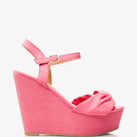 Twisted Wedge Sandals