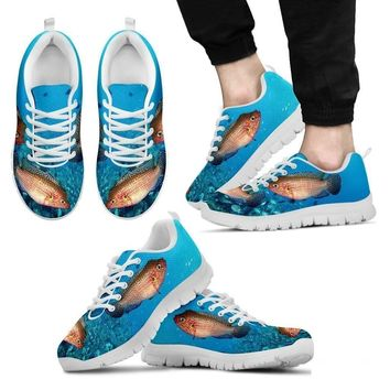 Jewel Cichlid Fish Print Running Shoes For Men-Free Shipping Limited Edition