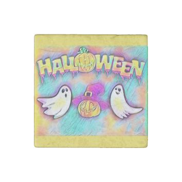 Halloween Ghost Stone Magnet
